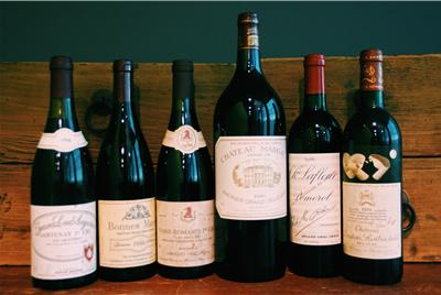 Bordeaux and Burgundy wines 1986