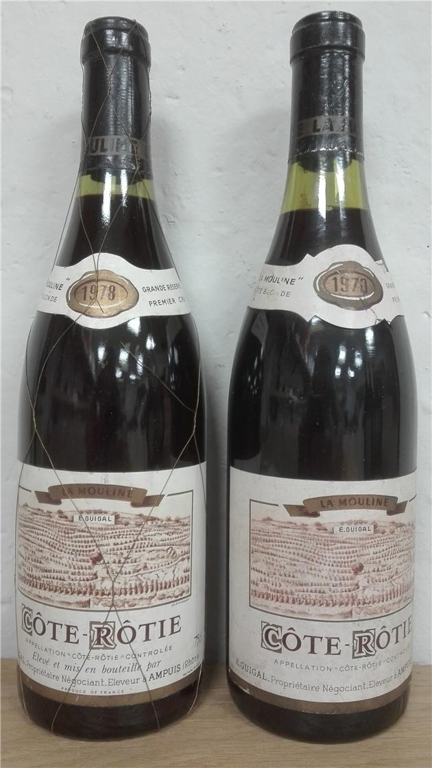 2 Glorious La mouline wines 1978-1970